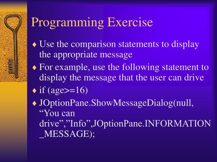 Programming Exercise