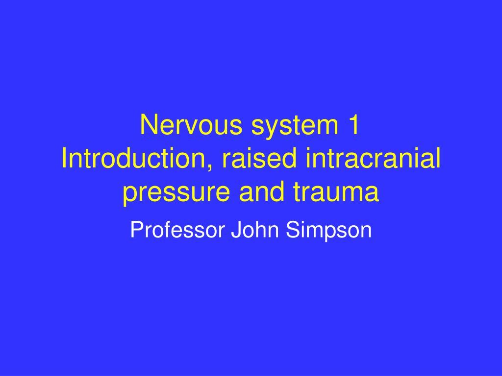 Nervous system 1
