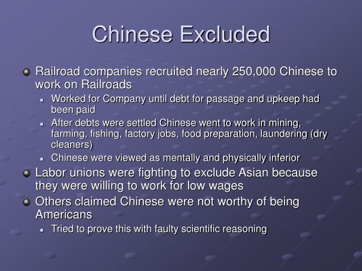 Chinese Excluded
