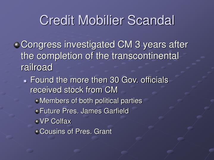 Credit Mobilier Scandal