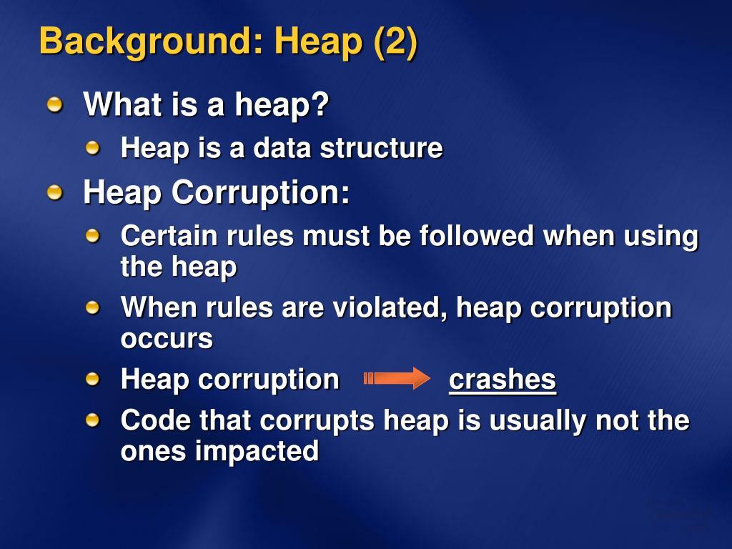 Background: Heap (2)