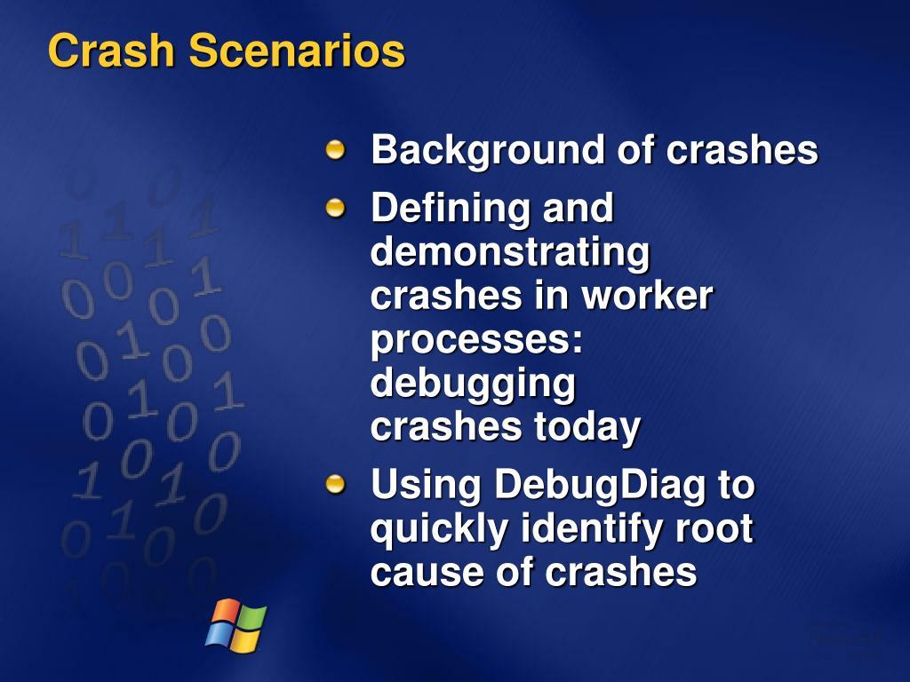 Crash Scenarios