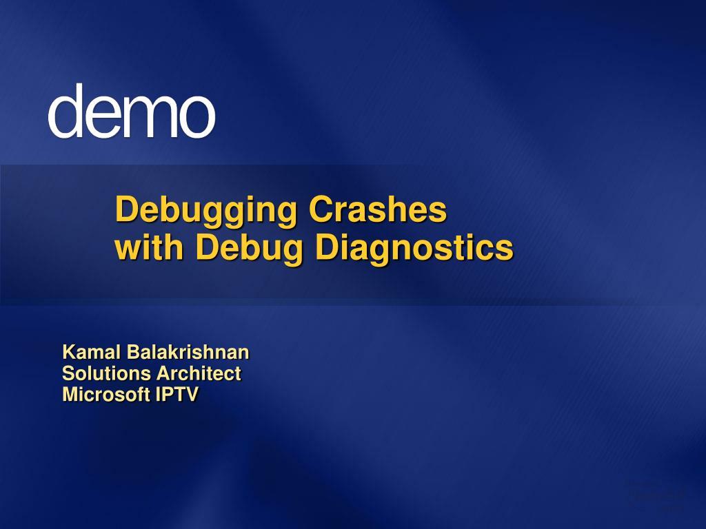 Debugging Crashes