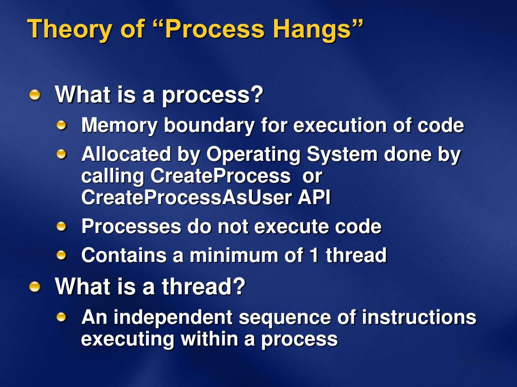 "Theory of ""Process Hangs"""