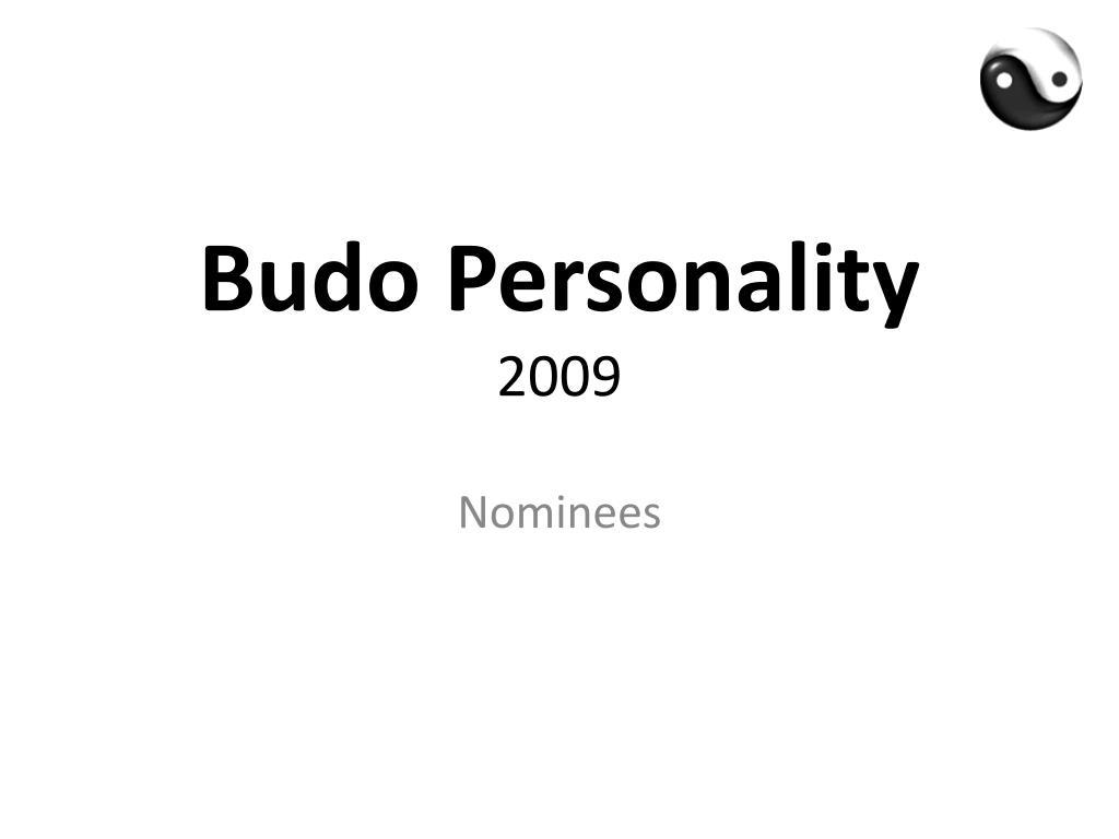 budo personality 2009 l.