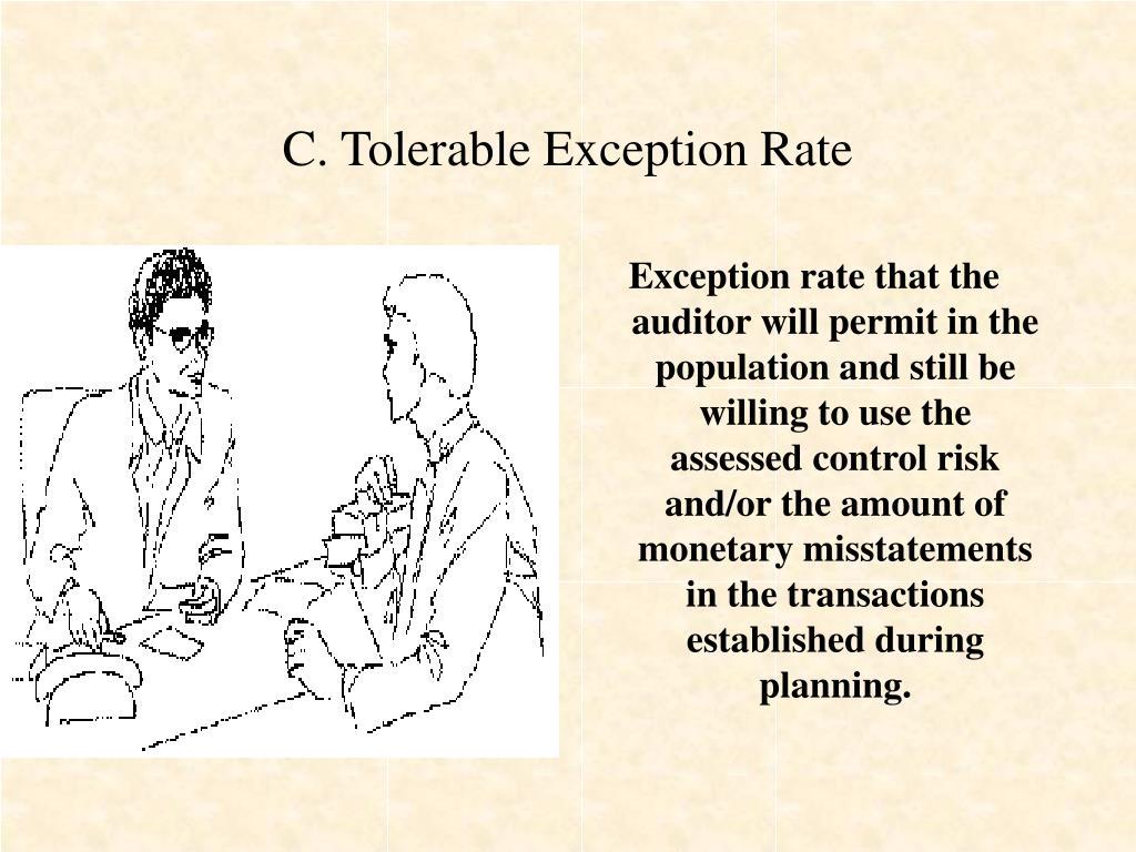 C. Tolerable Exception Rate