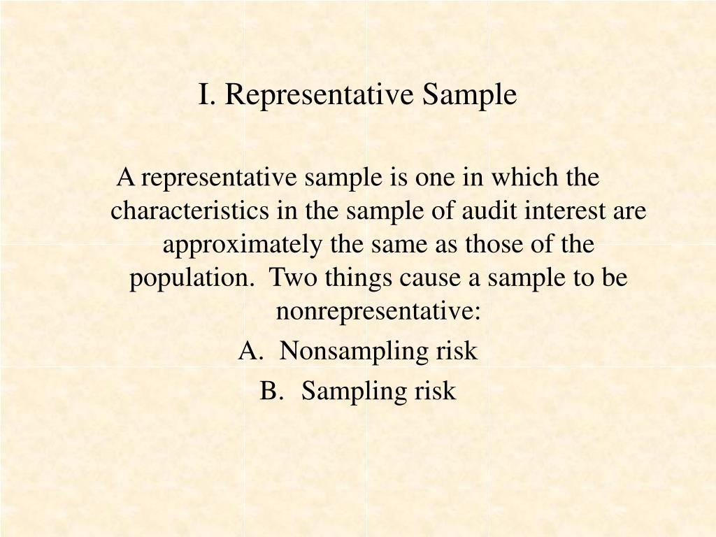 I. Representative Sample