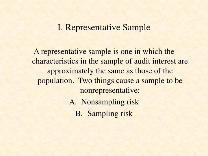 I representative sample