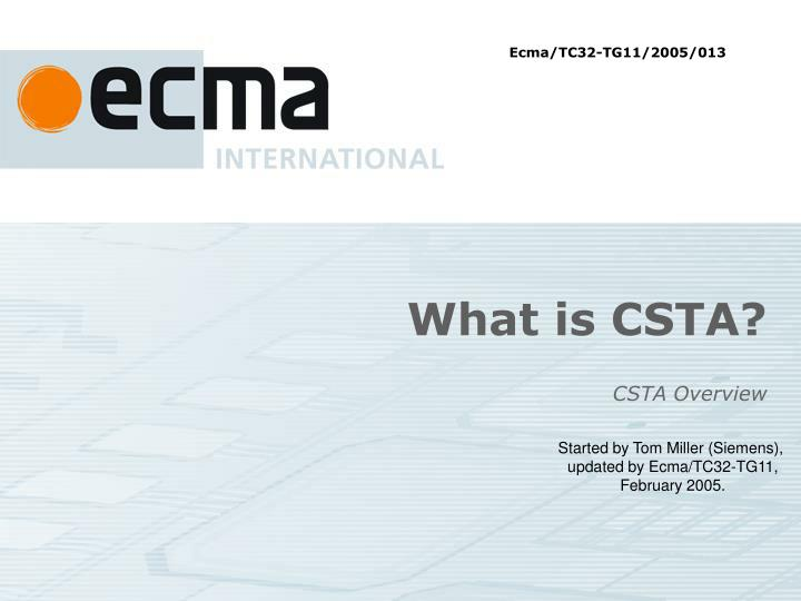 what is csta n.