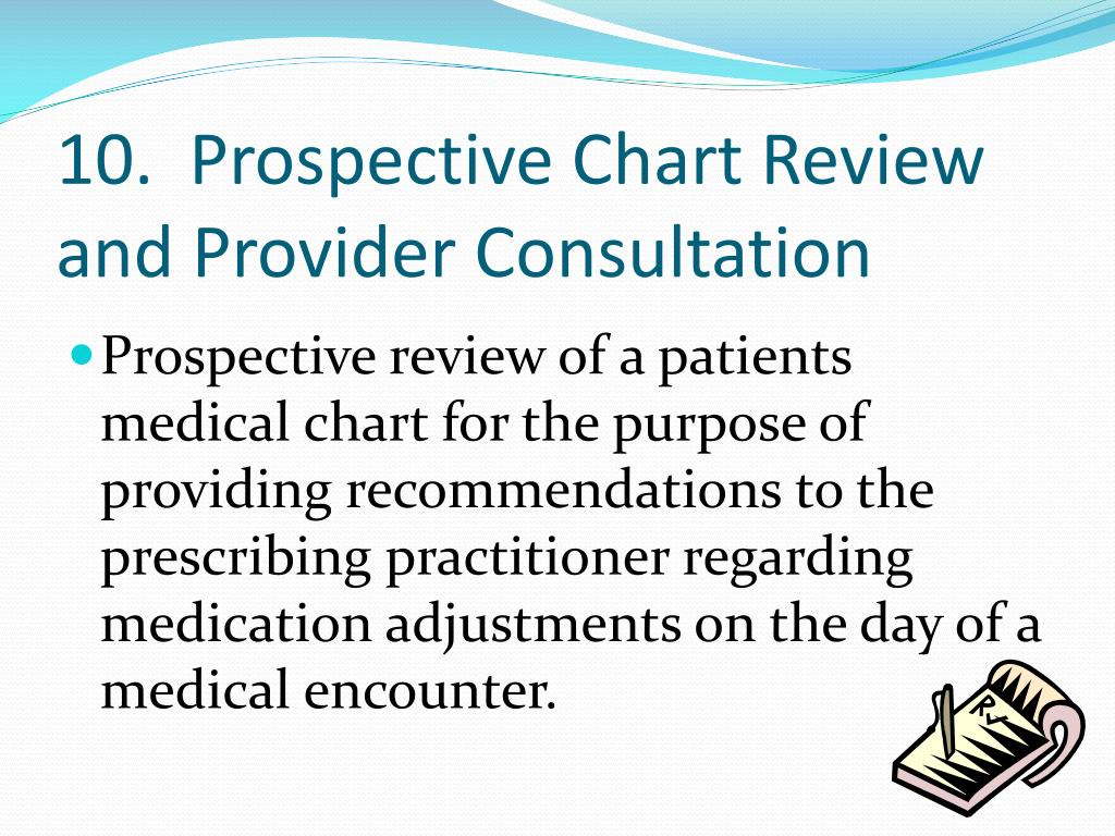10.  Prospective Chart Review and Provider Consultation