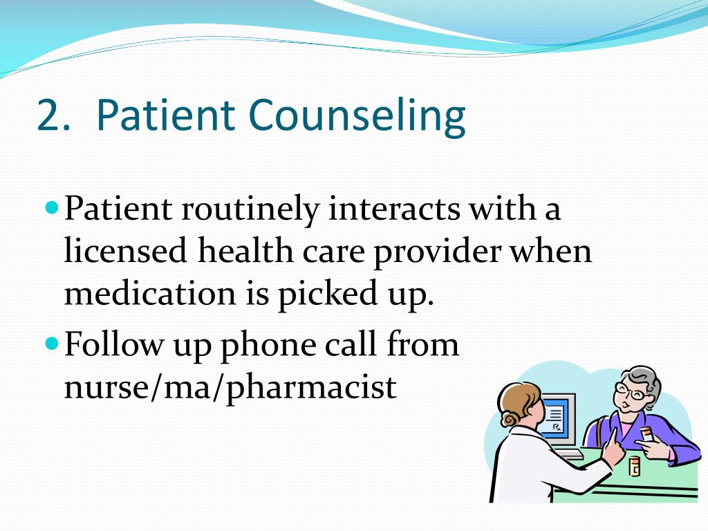 2.  Patient Counseling