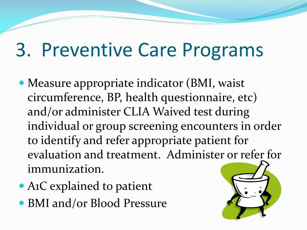 3.  Preventive Care Programs