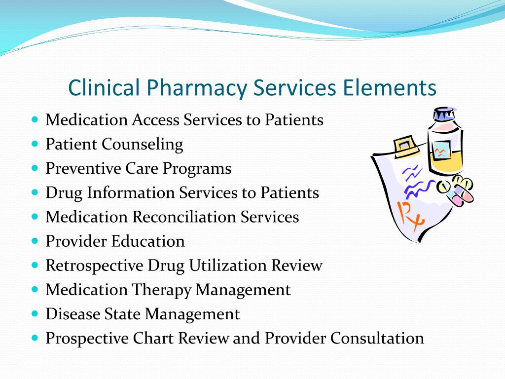 Clinical Pharmacy Services Elements