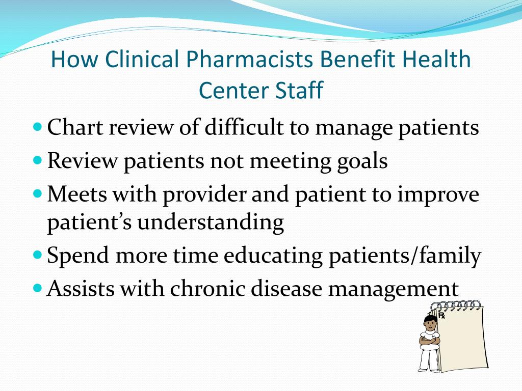 How Clinical Pharmacists Benefit Health Center Staff