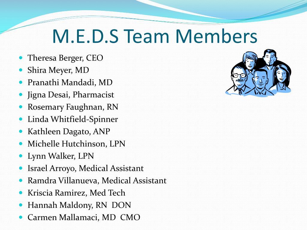 M.E.D.S Team Members