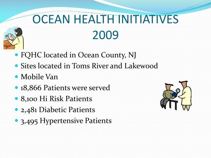 Ocean health initiatives 2009