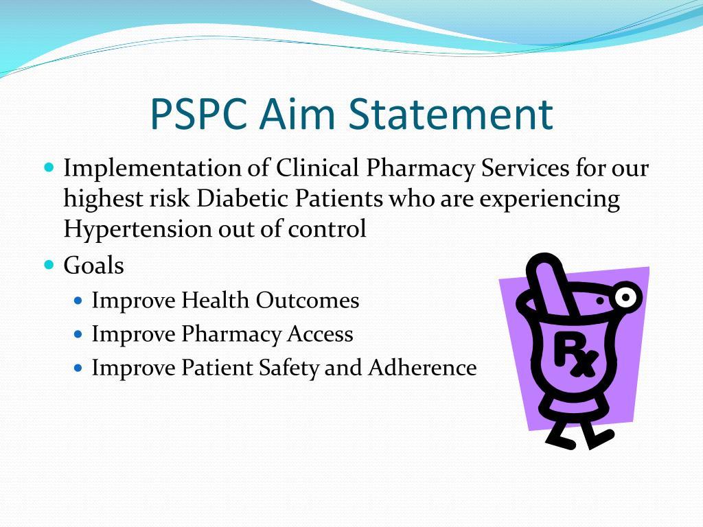 PSPC Aim Statement