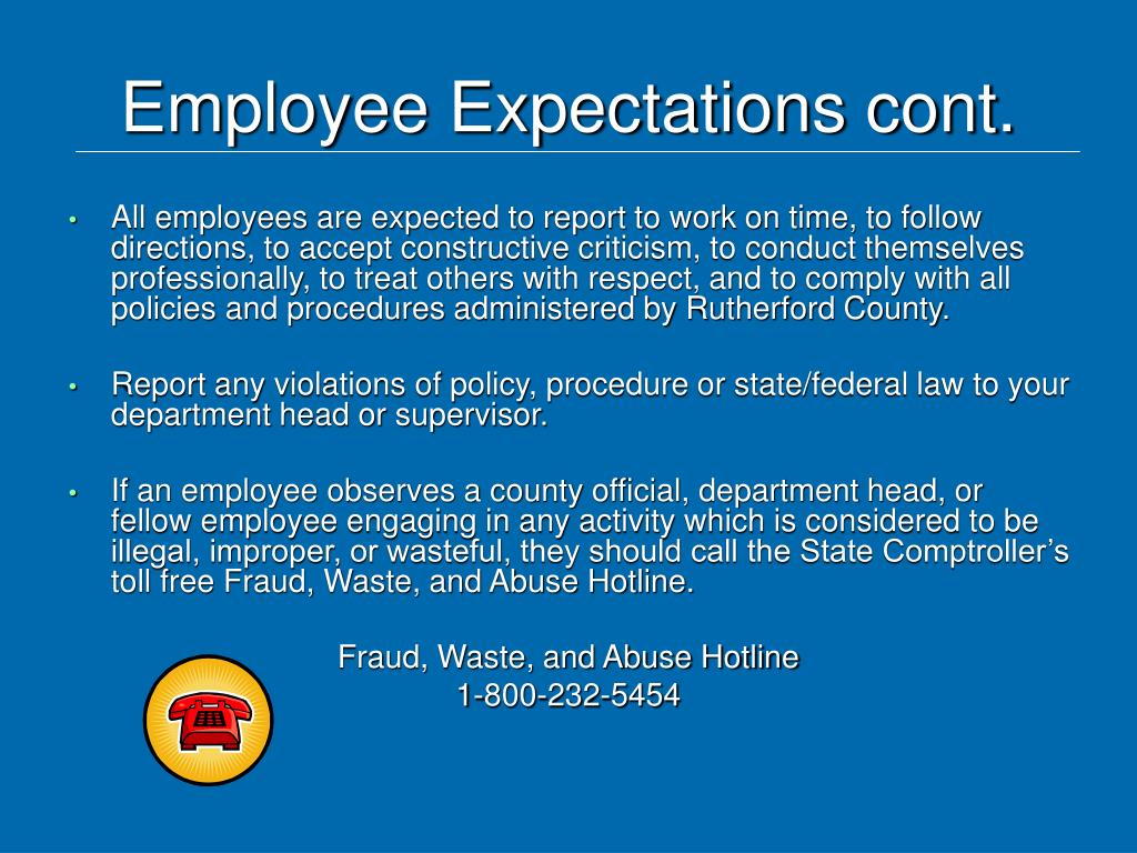Employee Expectations cont.