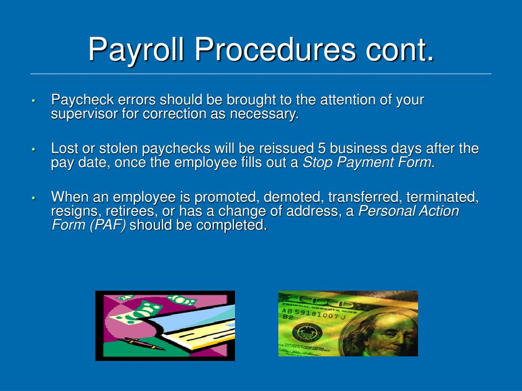 Payroll Procedures cont.