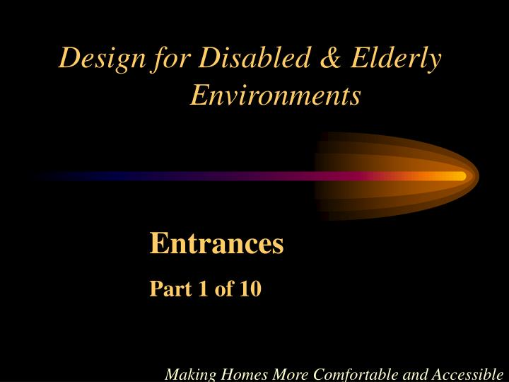 design for disabled elderly environments n.