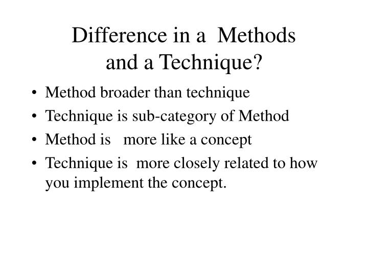 Difference in a  Methods