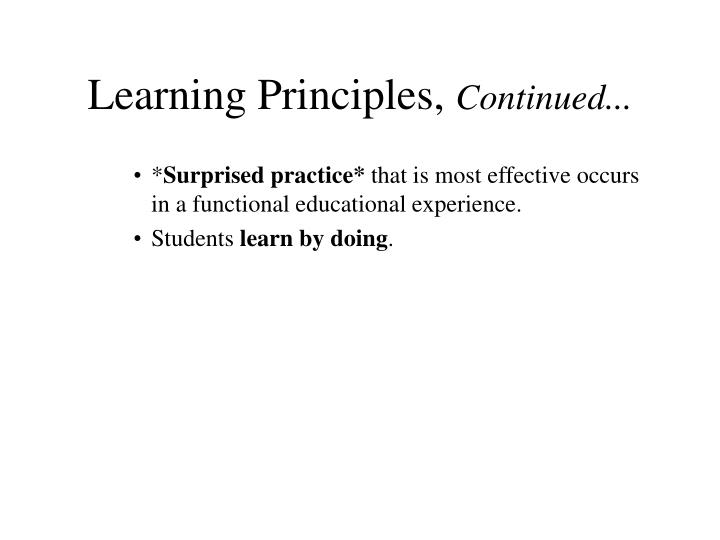 Learning Principles,