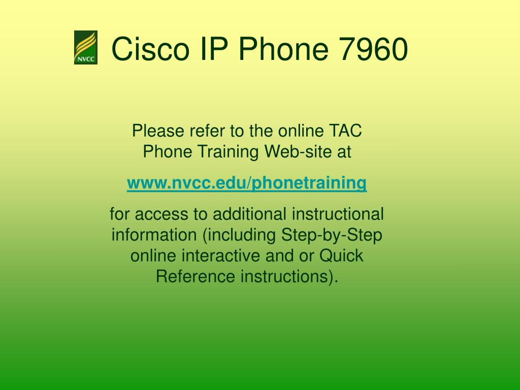 PPT - Cisco IP Phone 7960 PowerPoint Presentation - ID:370838