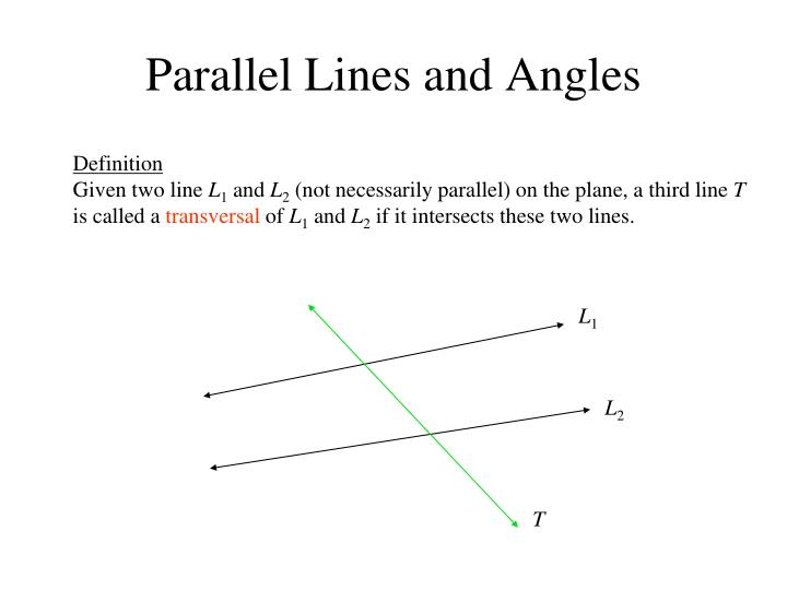 Parallel lines and angles2
