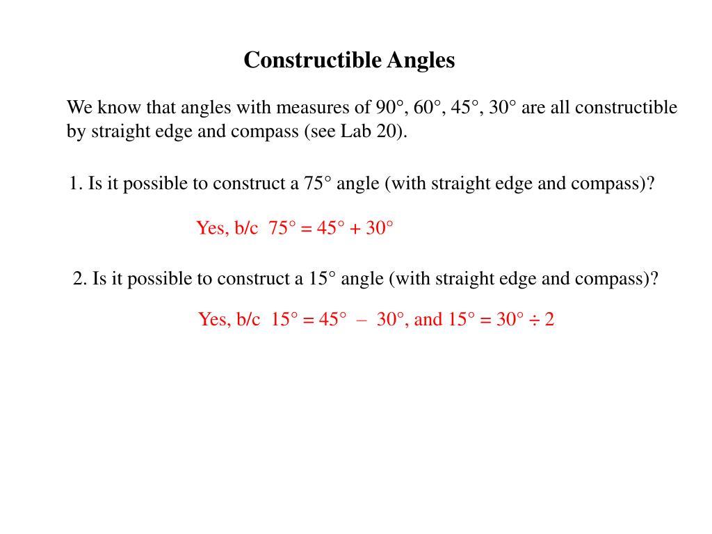 Constructible Angles