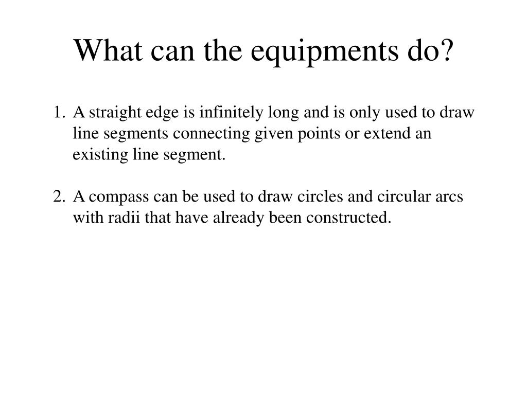 What can the equipments do?