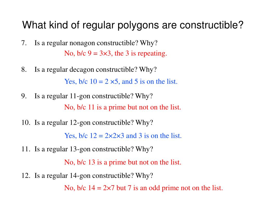 What kind of regular polygons are constructible?