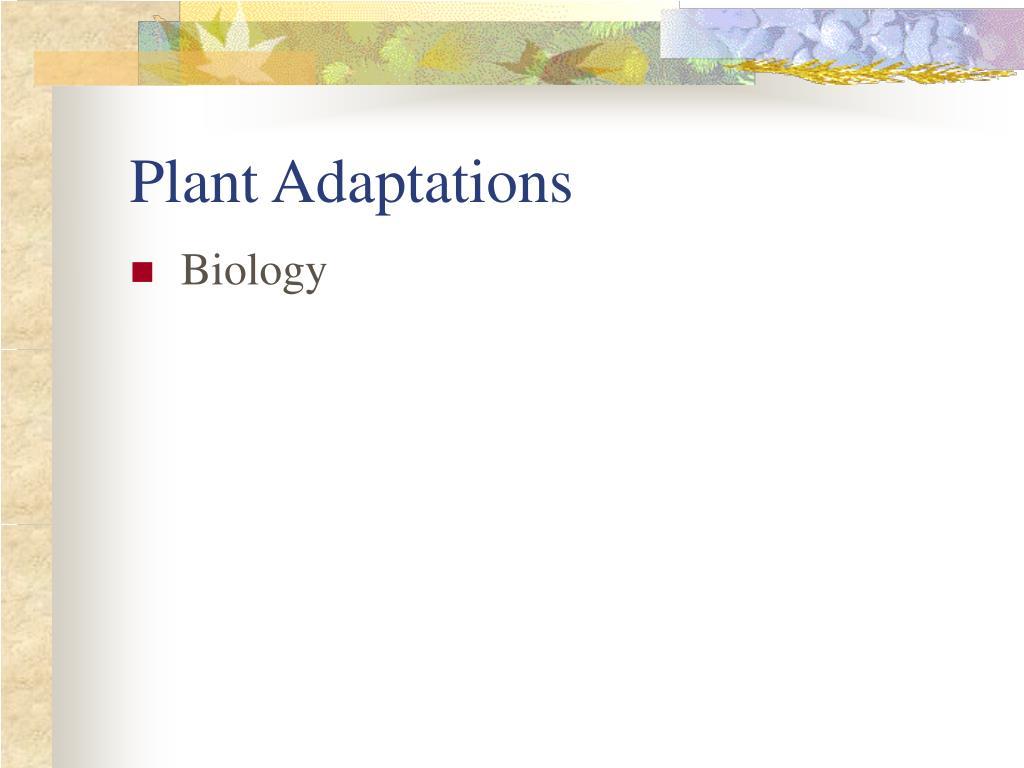 plant adaptations l.