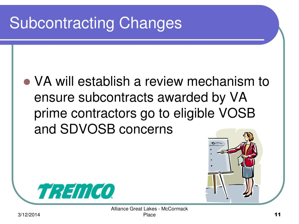 Subcontracting Changes