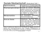 soziale marktwirtschaft deutschland 1949