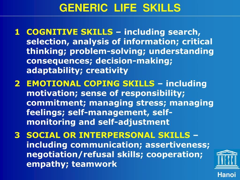 GENERIC  LIFE  SKILLS