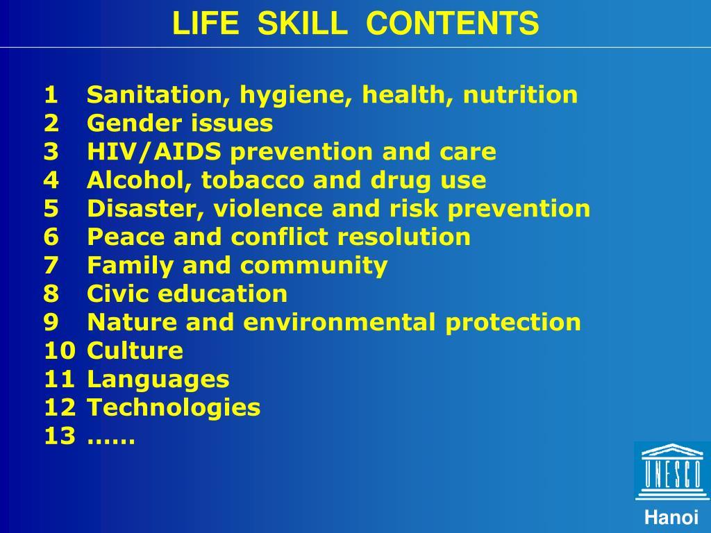 LIFE  SKILL  CONTENTS