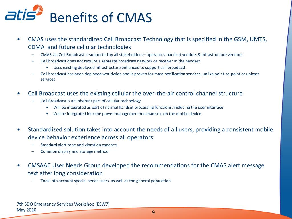 Benefits of CMAS
