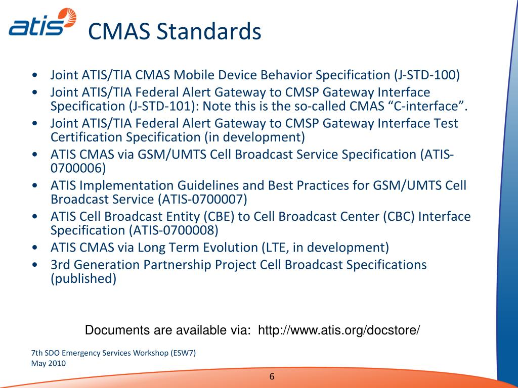 CMAS Standards