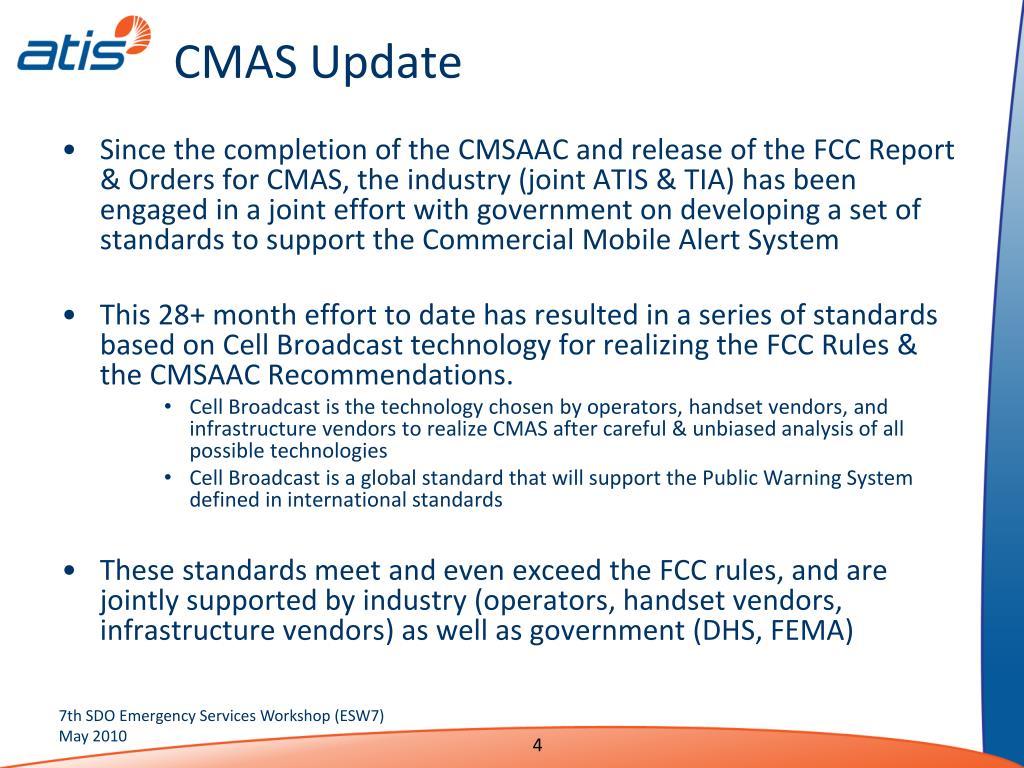 CMAS Update