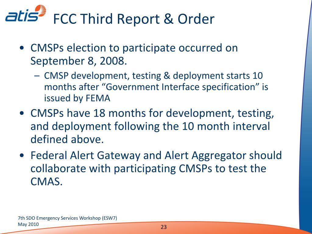 FCC Third Report & Order