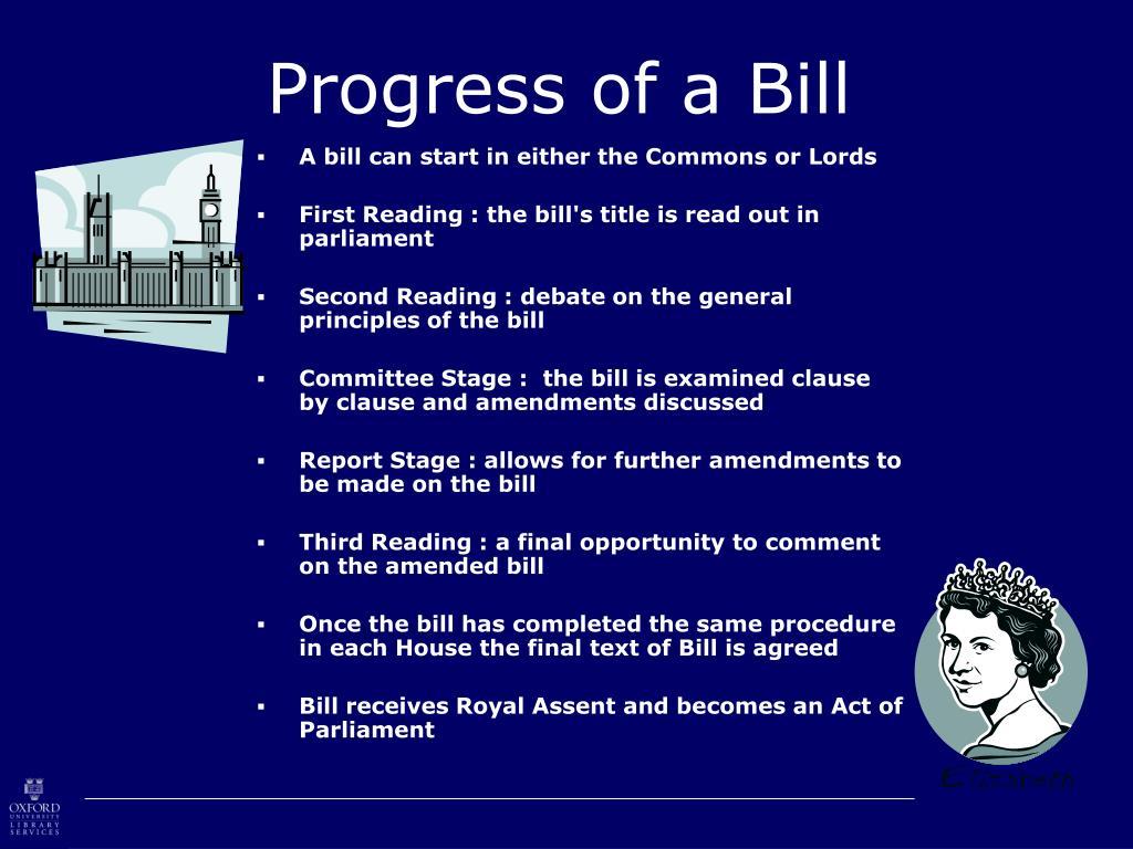 Progress of a Bill