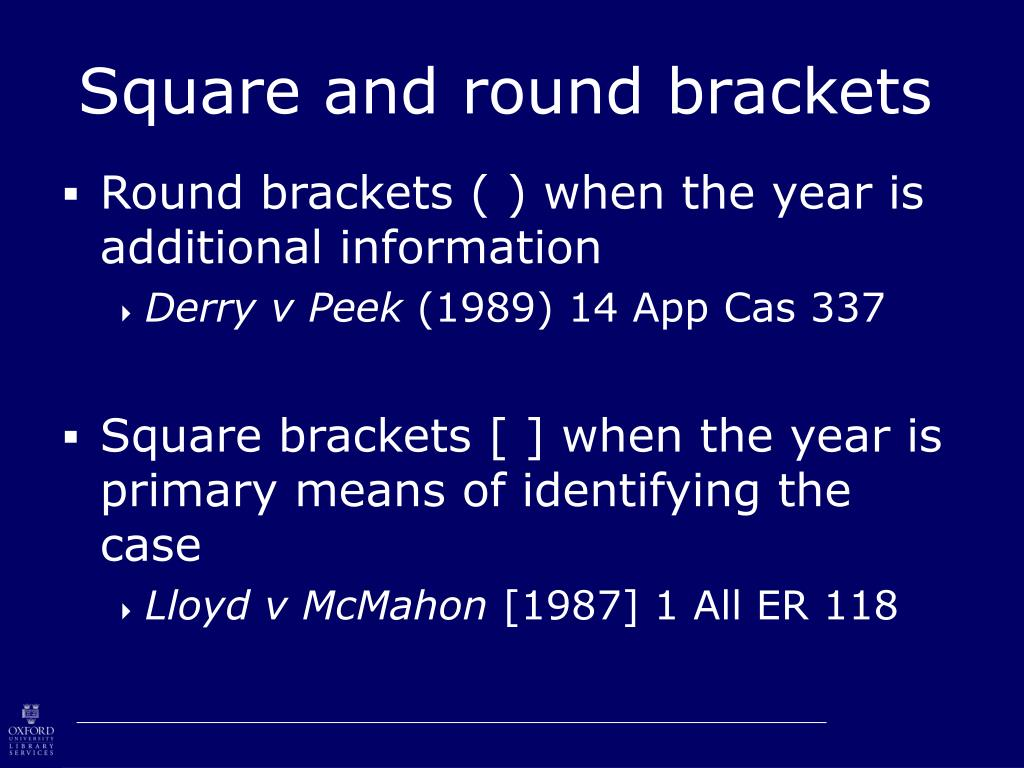Square and round brackets