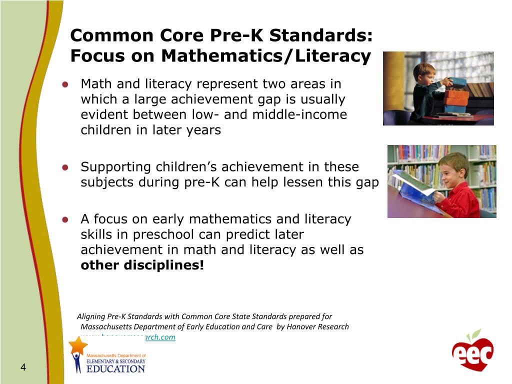 Common Core Pre-K Standards: