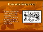 peace with wampanoag