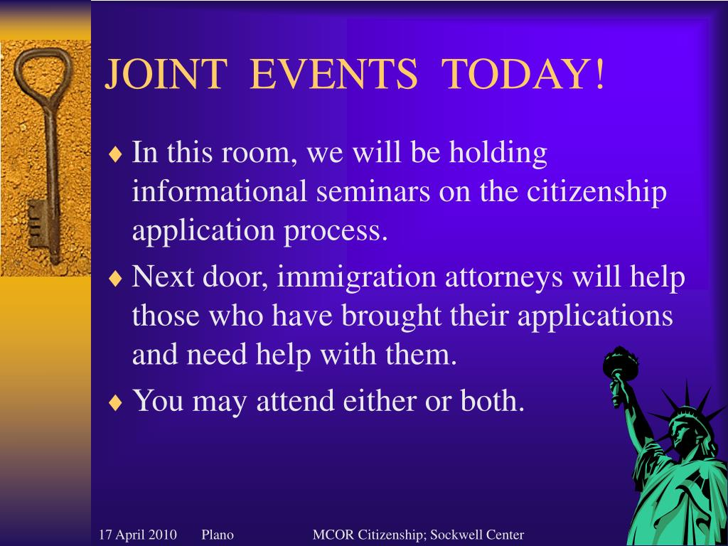 JOINT  EVENTS  TODAY!