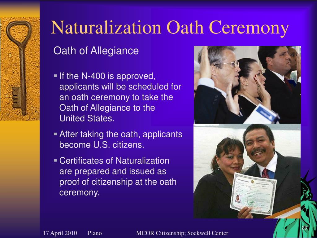 Naturalization Oath Ceremony
