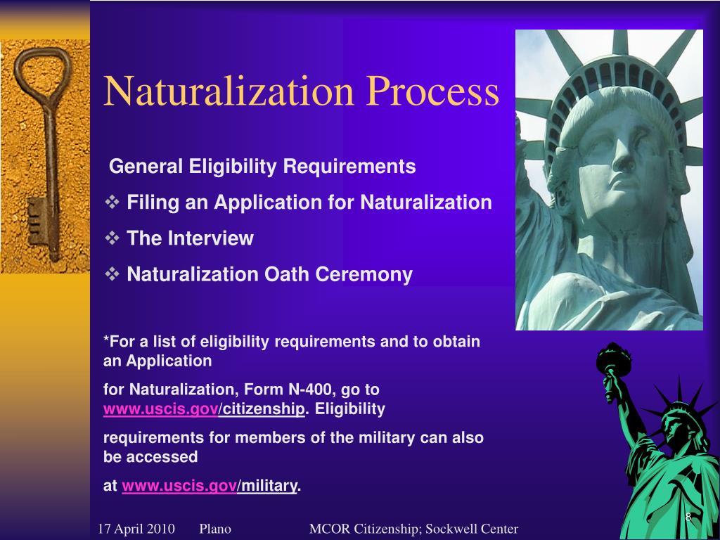 Naturalization Process