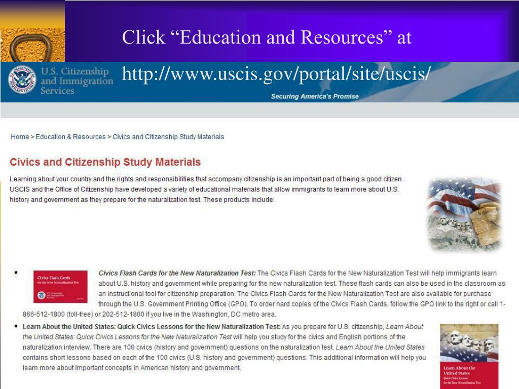 """Click """"Education and Resources"""" at"""