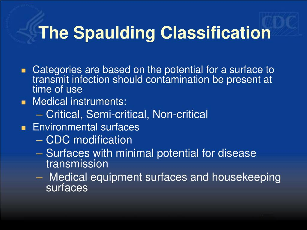 The Spaulding Classification