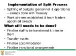 implementation of split process